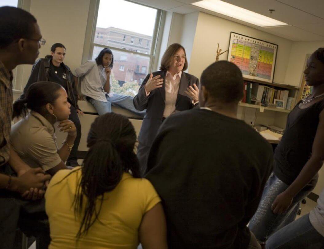 Dr. Karen Swartz teaching ADAP to a group of adolescents